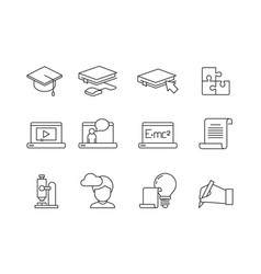 learning icon online education training courses vector image