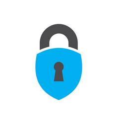 lock abstract logo icon vector image