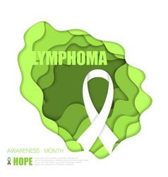 lymphoma awareness background vector image