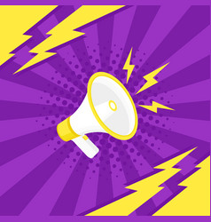 Megaphone icon in pop art style vector
