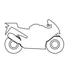 Motorcycle black color path icon vector