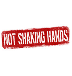 not shaking hands sign or stamp vector image