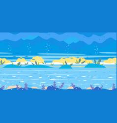 ocean floor game background flat landscape vector image
