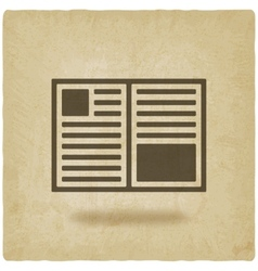 Open book symbol old background vector