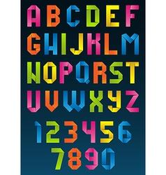 Origami alphabet vector
