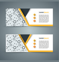 Paper banner - business infographic vector