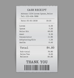 paper cash sell receipt vector image