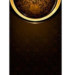 Pattern dark brown Vintage vector image