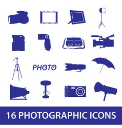 photographic icon set eps10 vector image