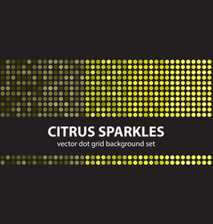 Polka dot pattern set citrus sparkles seamless vector