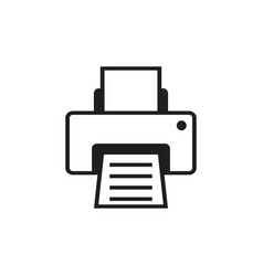 printer icon design template vector image