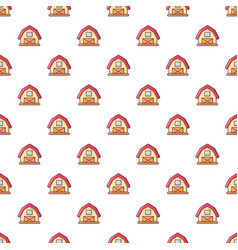 red horse barn pattern seamless vector image