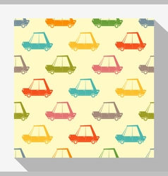 Retro seamless pattern collection with car 1 vector image