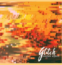 Scrambled glitch effect background vector