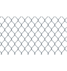 seamless chain link fence background on white vector image