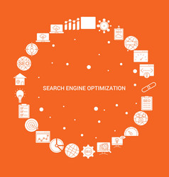 Search engine optimization icon set infographic vector