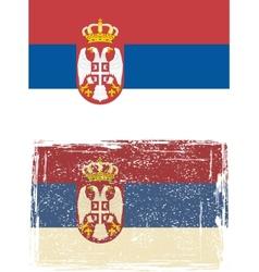 Serbian grunge flag vector