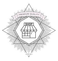 shop icon symbol symbol vector image