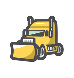 snow removal truck icon cartoon vector image