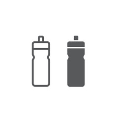 sport bottle line and glyph icon drink and vector image