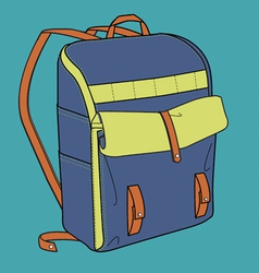 Sports backpack vector