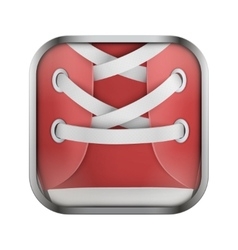 Square icon for run app or games vector