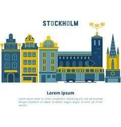 Stockholm city vector image