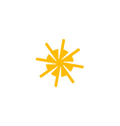 sun logo design template vector image
