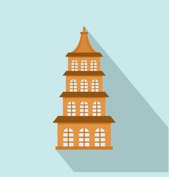 taiwan window building icon flat style vector image