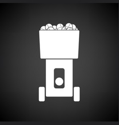 tennis serve ball machine icon vector image