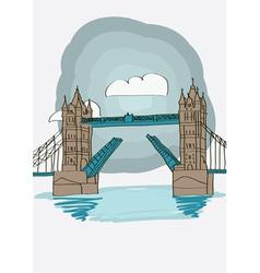 Tower Bridge of London vector