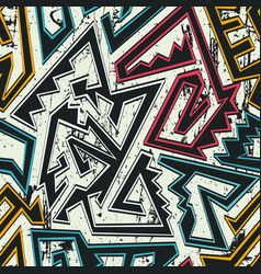 tribal seamless pattern with grunge background vector image