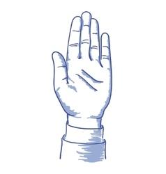 Up hand vector