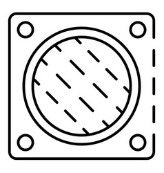 Wall fan hole icon outline style vector