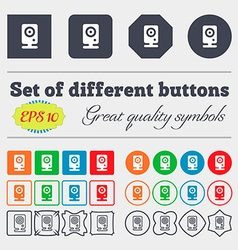 Web cam icon sign Big set of colorful diverse vector image