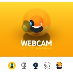 Webcam icon in different style vector