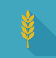 wheat icon in flat long shadow design vector image