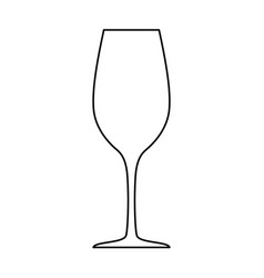 Wineglass silhouette isolated on white vector