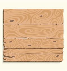 wooden board shield vector image