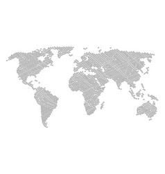 world map mosaic of pulse items vector image