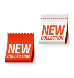 new collection labels vector image