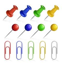 Pin set vector image vector image