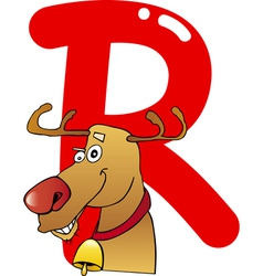 R for reindeer vector image vector image