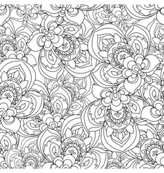 Seamless Monochrome Ornate Pattern for vector image
