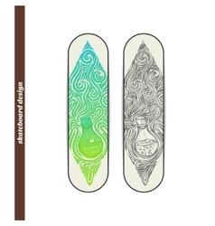 Skateboard Design Alchemical Bottle vector image