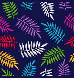 tropical summer jungle plant color background art vector image