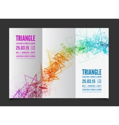 abstract triangle outline vector image vector image