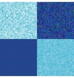 blue texture of hexagons vector image vector image
