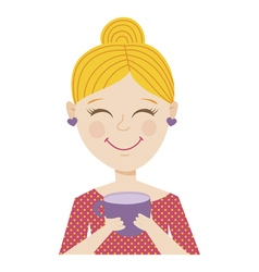 coffee girl vector image
