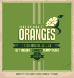 Fresh farm product poster design vector image